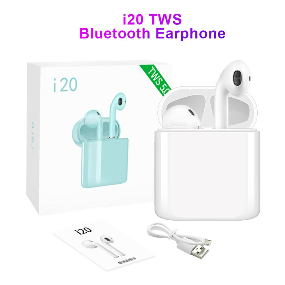 Link-Face i20 TWS Earbuds Wireless 5.0 bluetooth Earphones Earbuds 500mA Charge Box Fast Charge Case