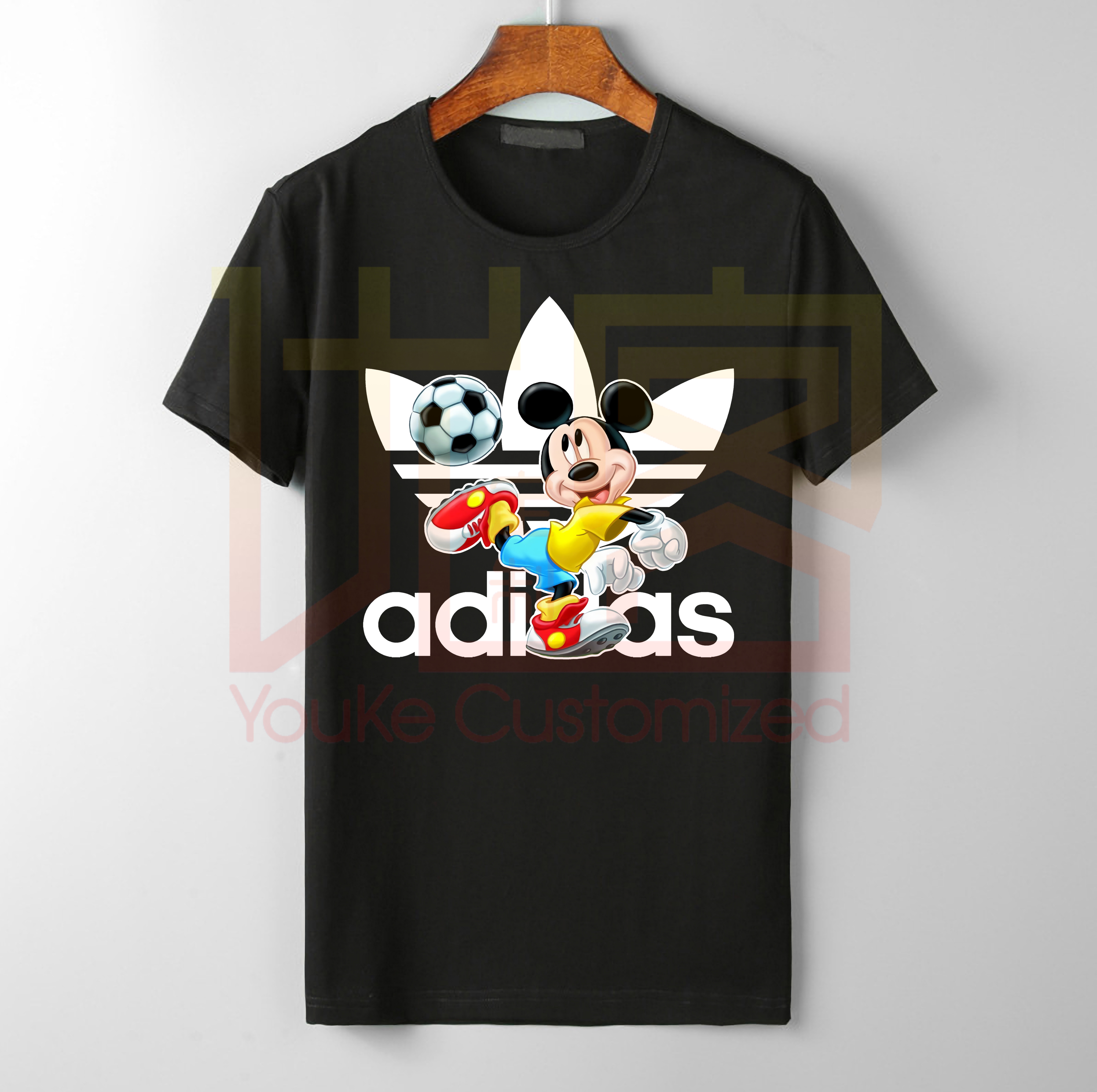 2019 new Bugs Lola Bunny Football Mickey  Disn Sports Logo addidas T-Shirts Handsome Mickey print for men's cool Funny Mickey Tshirt