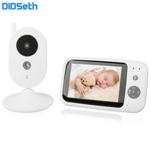 "3.5"" LCD Screen Wireless Video Baby Monitor Temperature Two-Way Audio Talk Infrared Night Vision Surveillance Security Camera 2 0 color video wireless baby monitor two way talk night vision ir night vision video baby camera with music temperature"