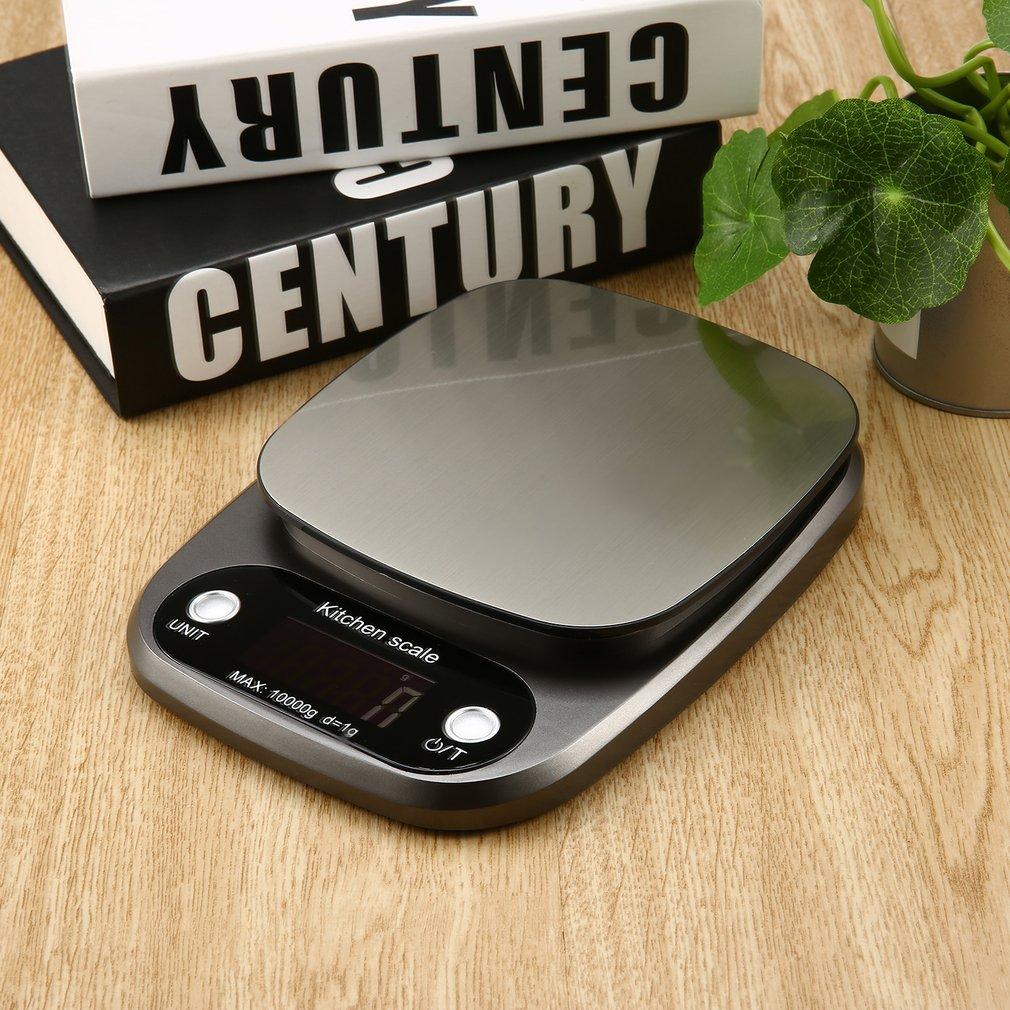 Цифровые весы 10 кг/0,1 г, высокоточные весы из нержавеющей стали, продажа, ЖК-дисплей, карманные весы для кухни, многофункциональные-3