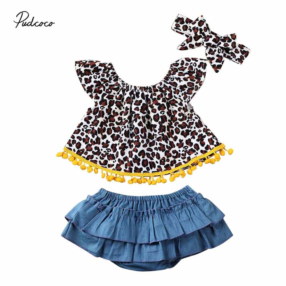 18M,as picture 3PCS Newborn Baby Girl Clothes Children Kids Short Sleeve Romper Tops+Tassel Shorts Bottom Headband Outfits Sunsuit