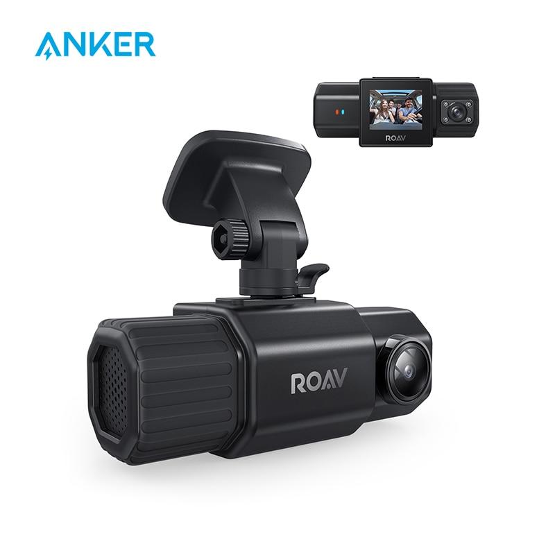 Anker Roav DashCam Duo, двойной FHD 1080p видеорегистратор, широкоугольные камеры, Суперконденсатор, ИК ночного видения, двойные датчики sony, gps