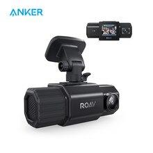 Anker roav dashcam duo, dupla fhd 1080p traço cam, câmeras de grande ângulo, supercapacitor, visão noturna ir, gps, nenhum cartão sd