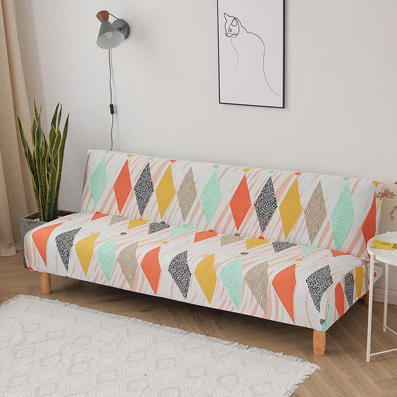 Cubierta de cama de sofá plegable geométrica europea sin reposabrazos todo incluido cubierta de sofá elástico cubierta de muebles Protector