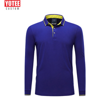 YOTEE Custom Long Sleeve polo shirt men Add Your Own Text Picture on Personalized Customized Tee