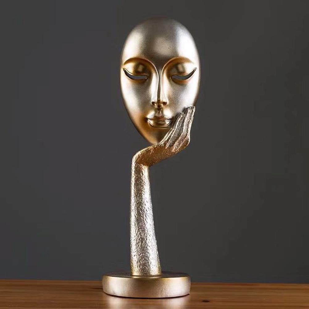 New Face Meditator Abstract Art Sculpture Nature Resin Office Craft Ornament Home Decoration Accessories Modern Hogar Decor