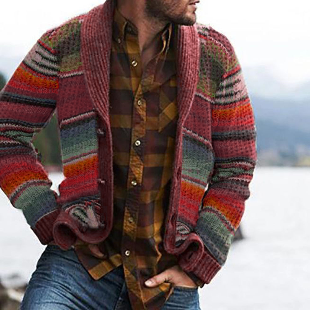 Autumn Men's Sweater Hoodies Casual Long Sleeves Thickening Warm Trend Shirt Sweaters Jackets Classic Cardigan Sweater Coat Men 3