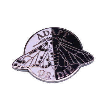 Adapt or Die Enamel Pin Beautiful Peppered Moth Badge is Often Cited in Science Textbooks as Evidence of Darwinian Evolution image