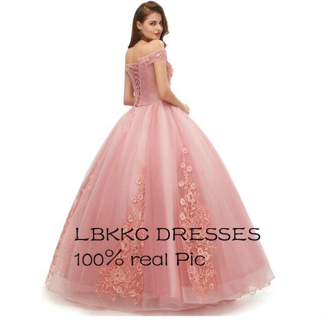 Quinceanera Dresses Off Shoulder Tulle Lace Ball Gowns Long Prom Dresses Sweet 16 Dresses Vestido De 15 Anos Quinceanera 2019 1