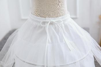 Biała spódnica z tiulu dziewczynek spódnice z Tutu halki dla dzieci spódnica dla dzieci akcesoria ślubne dla dzieci dziewczyna halka krynolina tanie i dobre opinie WFRV Formalne CN (pochodzenie) Pasuje prawda na wymiar weź swój normalny rozmiar Poliester Wiskoza Floral Cekinami girls Formal costume