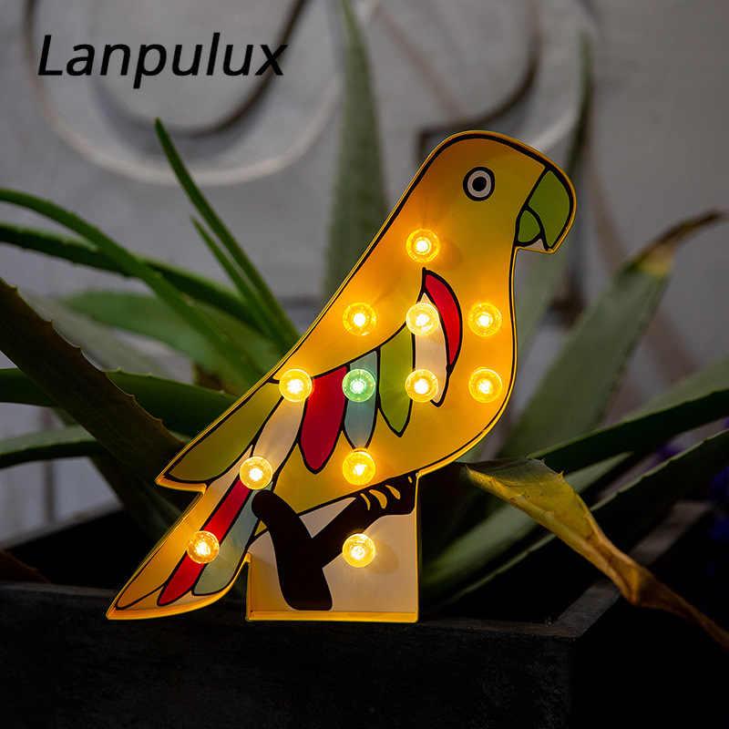 Lanpuluxเป็นมิตรกับสิ่งแวดล้อมกระดาษผลไม้NightโคมไฟIce Cream ParrotแคคตัสDecorโคมไฟจอแสดงผลการสร้างแบบจำลองการถ่ายภาพProps
