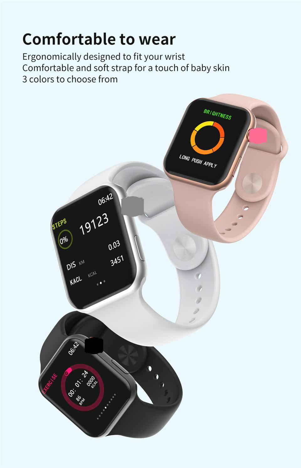 F10 Fitness Tracker ECG pulsera smartwatch 3