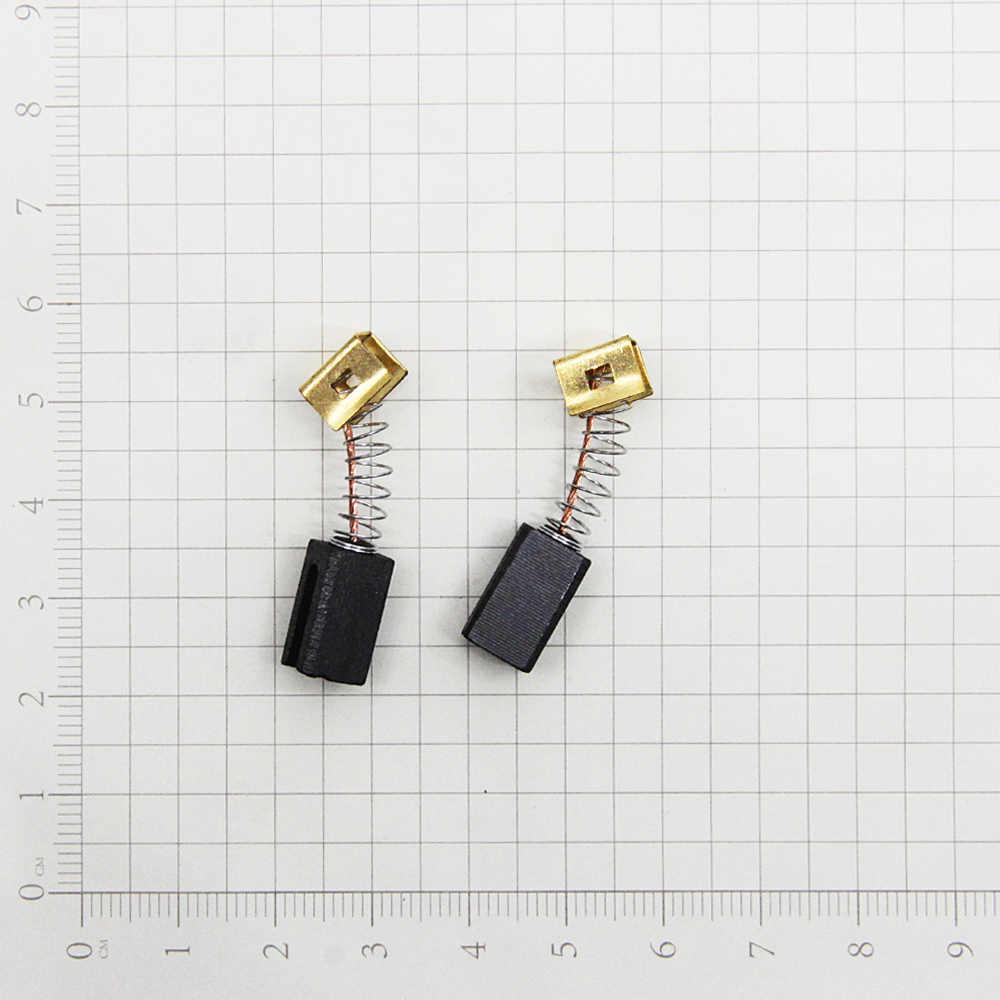 5 Pairs karbon fırçalar 6.4x7.9x12.5mm 596071-00 elektrik motorları için siyah katlı CD105 CD110 CD115 KG900