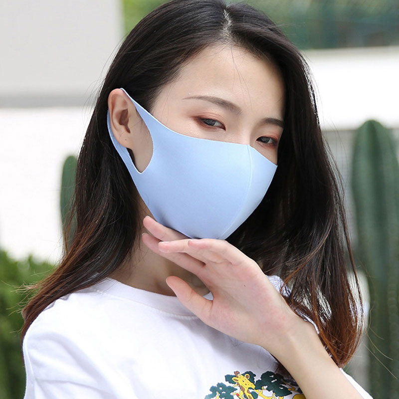 Breathable Sponge Face Mask Unisex Sponge Mouth Mask Reusable Anti Pollution Face Shield Black White Pink Blue Sponge Mouth Mask
