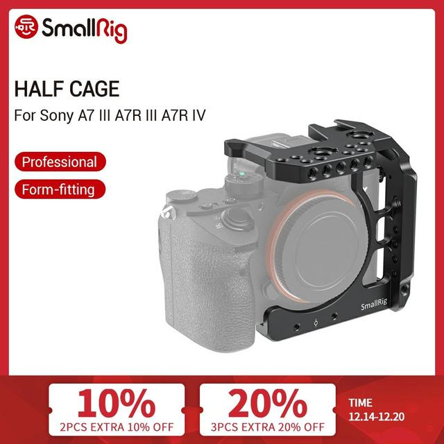 SmallRig Half Cage for Sony A7 III A7R III A7R IV Dslr Camera Cage With NATO Rail/ Cold Shoe Video Shooting Cage Kit     2629