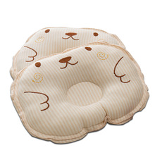Newborn Pillow Color Cotton Round Pillow Baby Pillow Anti-Skeleton Shaped Pillow Cotton Baby Stripe Embroidered Shape Pillow