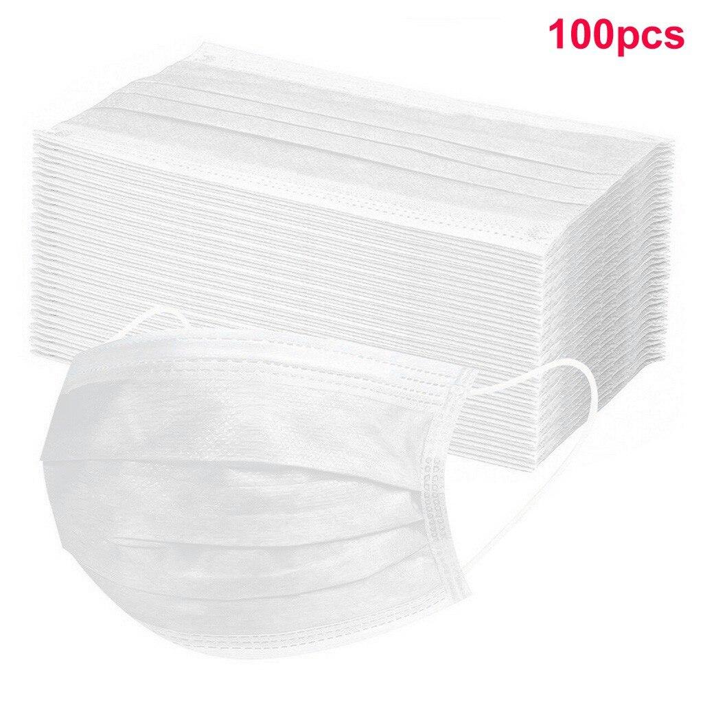 Высокое качество 100 шт нетканые одноразовые маски для лица 3 слоя Анти-пыль маски для лица Одноразовые рот Mascarillas Быстрая доставка