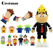 Pendrive 64GB Memory-Stick Woody Buzz Cartoon Cute Lightyear 128GB 16GB 256GB 32GB Toy