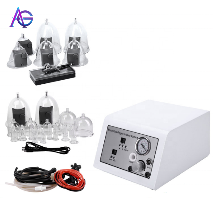 2 In 1 Breast Enlargement Skin Lifting Cellulite  Machine Oxygen Jet Spray Vacuum Suction For Home And Salon Use