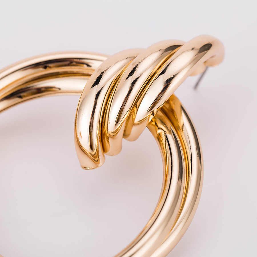 2019 ボヘミアスタイル誇張ラウンド金属合金のための女性のファッションジュエリーアクセサリーギフト