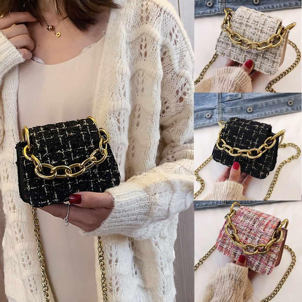 Mulheres da moda's de Lã Tendência Saco de Grande Capacidade Saco Do Mensageiro Saco de Ombro sacos para as mulheres 2019 bolsa crossbody saco do telefone
