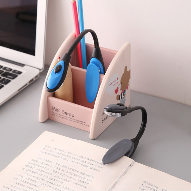 Portable Travel Book Reading Light LED Book Lamp Clip On Bendable Flexible Clamp LED Reading Light for Home