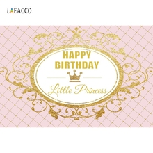 Laeacco Little Princess Birthday Party Customized Photography Backgrounds Decoration Kid Photographic Backdrops For Photo Studio