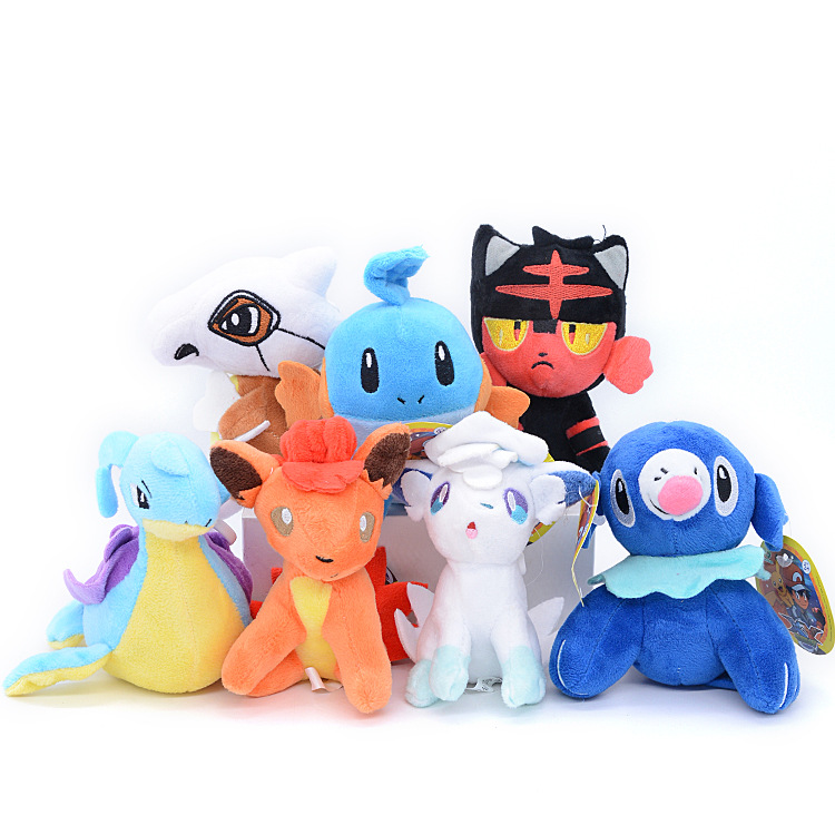 Takara Tomy 7 Different Styles Pokemon Gift Collection Animal Plush Stuffed Toys Dolls Action Figures Model For Children
