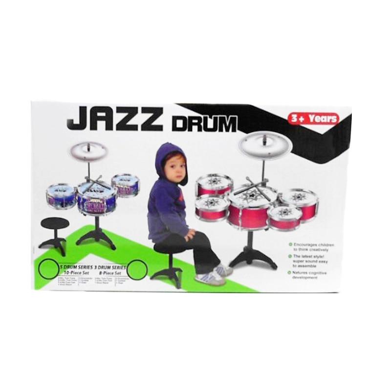 Modèle Instrument grande taille batterie Kit ensemble bébé petite enfance éducatif Jazz tambour Instrument de Percussion jouet pour enfants