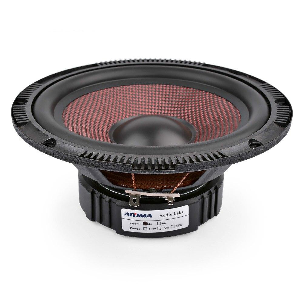 Aiyima 6.5 Polegada carro de áudio midrange graves alto falantes 4 8 ohm 60 w alta potência fibra vidro música woofer altifalante diy sistema som