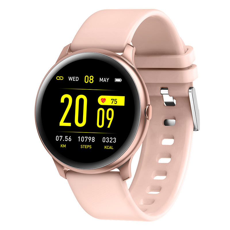 <font><b>KW19</b></font> <font><b>Women</b></font> <font><b>Smart</b></font> <font><b>watch</b></font> Heart rate monitor Multi-Languages Waterproof Men sport Fitness Tracker smartwatch for IOS and Android image