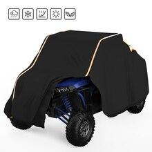 Utv黒防水ユーティリティ車両収納カバーサイドバイサイドsxsためpolaris ranger 570 900 1000 rzr 900モデル2014 2017
