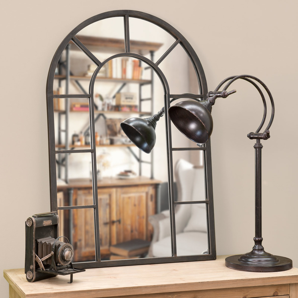 Large Decorative Arch Window Mirror With Metal Frame Door Living Room Home Furniture Decor