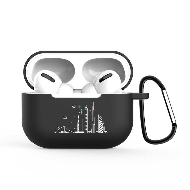 Simple Pattern Black Box Wireless Bluetooth Airpods Pro Protective