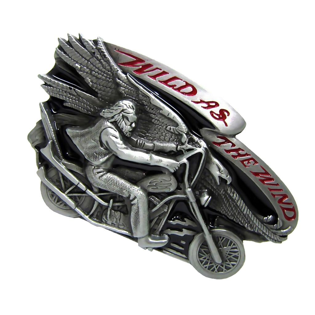 Western Cowboy Retro Oval Metal Belt Buckle Motorcycle Men Belt Accessories