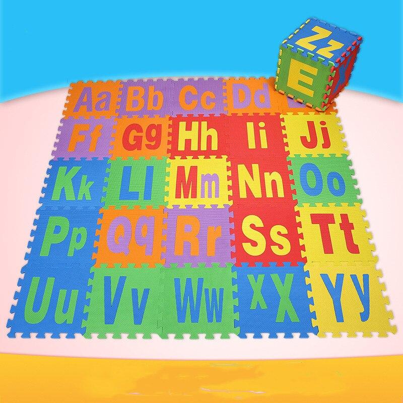 Haute qualité bébé jouer tapis 26 pièces/ensemble PE épissage tapis enfants Playmats enfants chambre décoration lettre Puzzles thème Pad