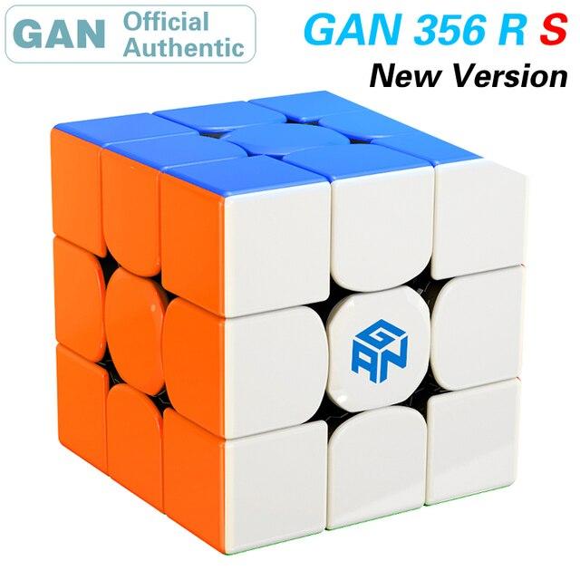 GAN 356 R S RS 3x3x3 cubo mágico 3x3 actualizado GAN356/356RS Cubo de velocidad profesional Neo rompecabezas juguetes anti estrés para niños