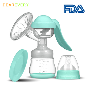 Manual Breast Pump Baby Baby Nipple Suction Feeding Milk Bottles Breasts Pumps Bottle Food grade silicone BPA free Baby Bottle