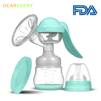 Manual Breast Pump Baby Nipple Suction Feeding Milk Bottles Breasts Pumps Bottle Food grade silicone BPA free - discount item  36% OFF Pregnancy & Maternity