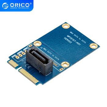 ORICO SATA 7PIN to mSATA Adapter Vertical Type SSD Adapter Support SATA3 Protocol Support Full High Size Double Sided PCB Board