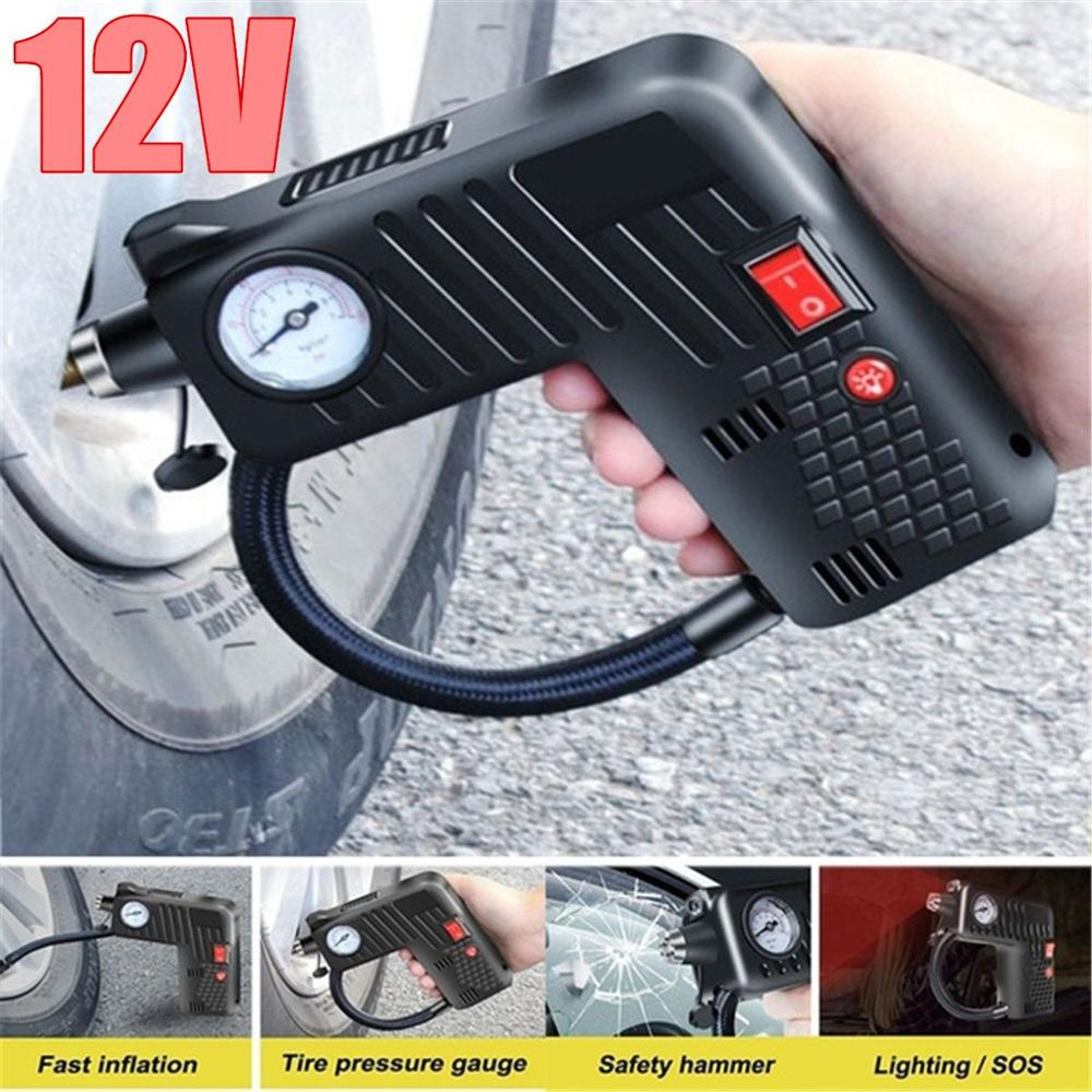 Multifunctional 12V Portable Air Inflator Compressor Pump Tire Safety Compressor Cordless For Motorcycle Electric Auto Car Bike