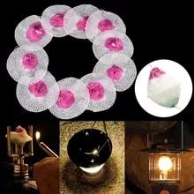 10pcs Mesh Camping Lantern Mantles Lamp Mantle Paraffin Lamp Gas Lamp Cov CRA wv