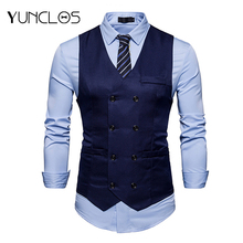 Men's  Business Waistcoat Single-Breasted Solid Color Vest Or For Wedding Party Suit Vest Casual  Waistcoat Masculine Fashion