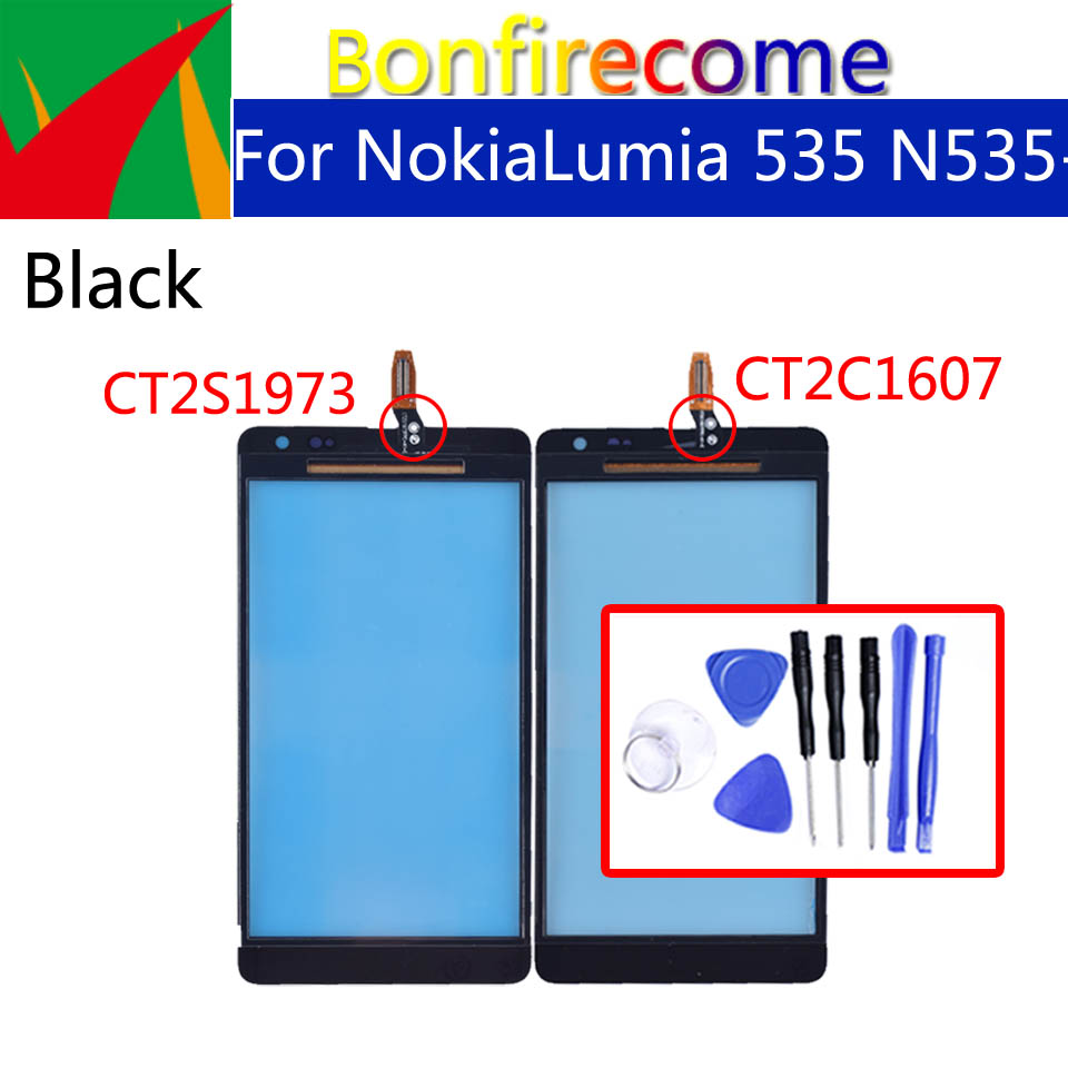 For Nokia Microsoft Lumia 535 Touch Screen Panel Sensor For N535 CT2S1973 CT2C1607 Digitizer Glass Replacement 5.0 Inch