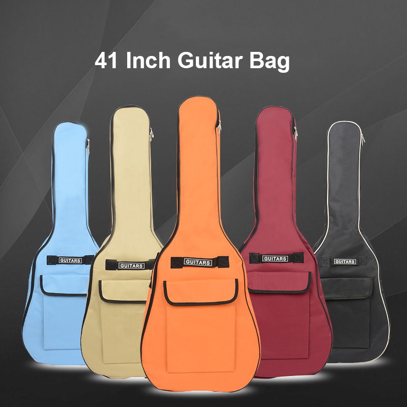 40/41 Inch Oxford Fabric Guitar Gig Bag Soft Case Double Shoulder Straps Padded Guitar Waterproof Backpack 5mm Cotton