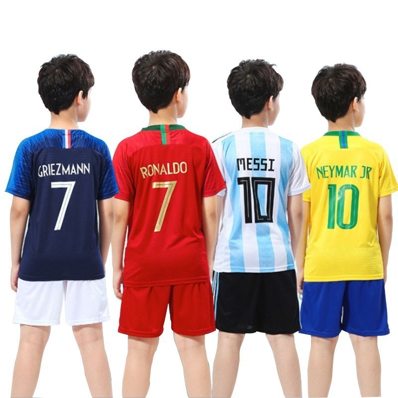 Boys Outfits Jersey Clothing Vest Soccer-Uniform Tracksuit Children Football Kids Summer