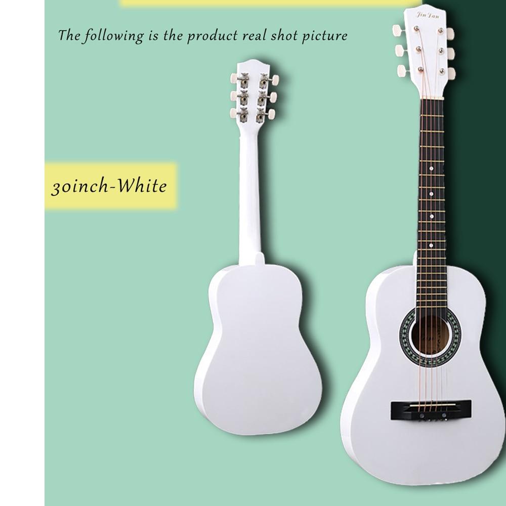 30 pouces guitare Folk acoustique Guitarra 6 cordes Top qualité tilleul pour enfants débutant donner des choix cadeau AGT05 - 3