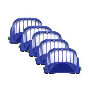 Image 5 - כחול AeroVac מסנן + סט ראשי מברשת ערכת + צד מברשת לirobot Roomba 600 סדרה 620 630 650 660 אבזר Replacment
