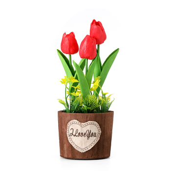 Tulips Artificial Flower Real Touch Led Night Light For Children Baby Kids Night Lamp Home Gift Wedding Decoration