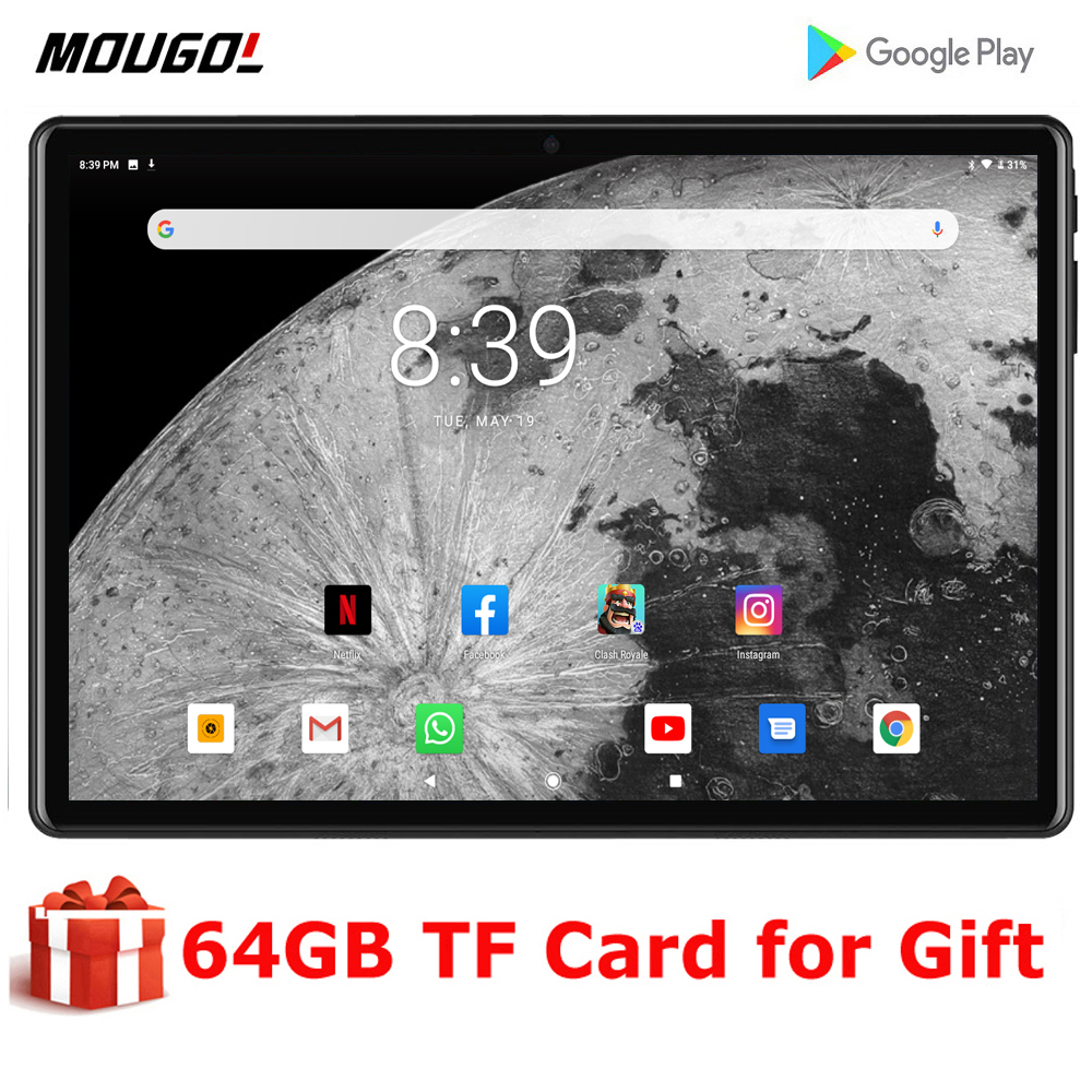 2020 Super Tempered 2.5D Screen 10 inch tablet PC Android 9.0 OS Quad Core 2GB RAM 32GB ROM Wifi GPS Tablets 10.1 + Gifts